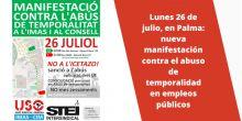 Contra el abuso de temporalidad en IMAS y Consell: USO vuelve a las calles este lunes