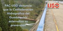 FAC-USO denuncia a Confederación del Guadalquivir por externalizar servicio de prevención