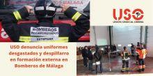 USO denuncia el estado de los uniformes de los bomberos de Málaga