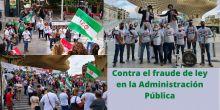 FAC-USO en las calles de Sevilla contra el abuso de la temporalidad en la Administración