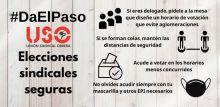 Vuelven las elecciones sindicales, pero vota con seguridad. #DaElPaso con la USO