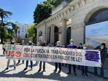 FAC-USO: Nueva concentración en defensa de los derechos de los trabajadores con contratos en fraude de ley
